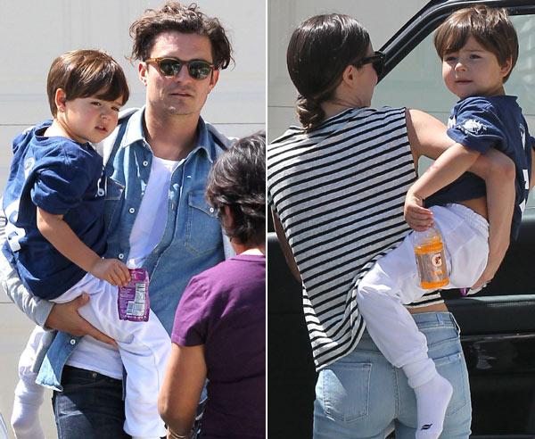El pequeño Flynn, el lazo que sigue uniendo a Orlando Bloom y Miranda Kerr año y medio después de su separación