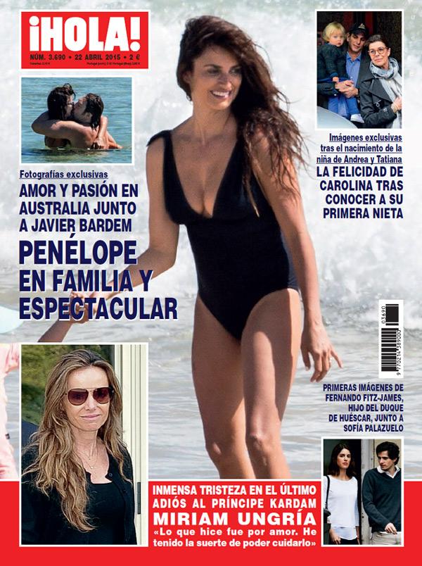 Exclusiva en ¡HOLA!: Penélope Cruz, en familia y espectacular en Australia