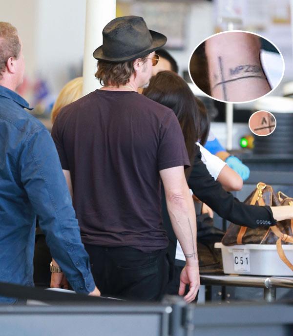 Brad Pitt, con Angelina y sus hijos en el corazón... y también en la piel