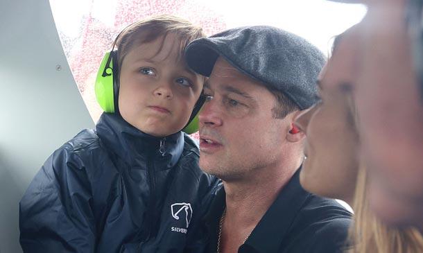 Brad Pitt y su hijo Knox, de tal palo, tal astilla