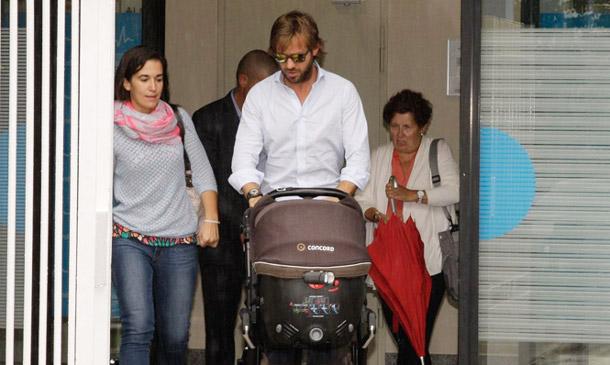 Las primeras imágenes de Rosauro Varo con su segundo hijo