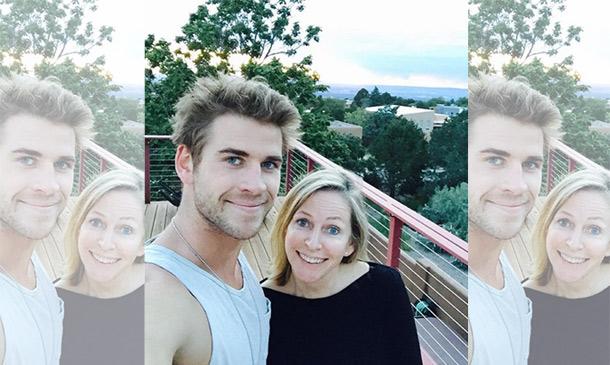 Es su madre... ¡pero parece su hermana! Liam Hemsworth, un hijo orgulloso en las redes sociales