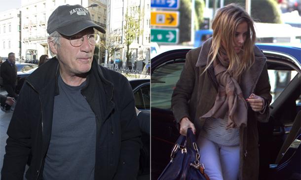 Richard Gere aterriza en Madrid y se reencuentra con Alejandra Silva
