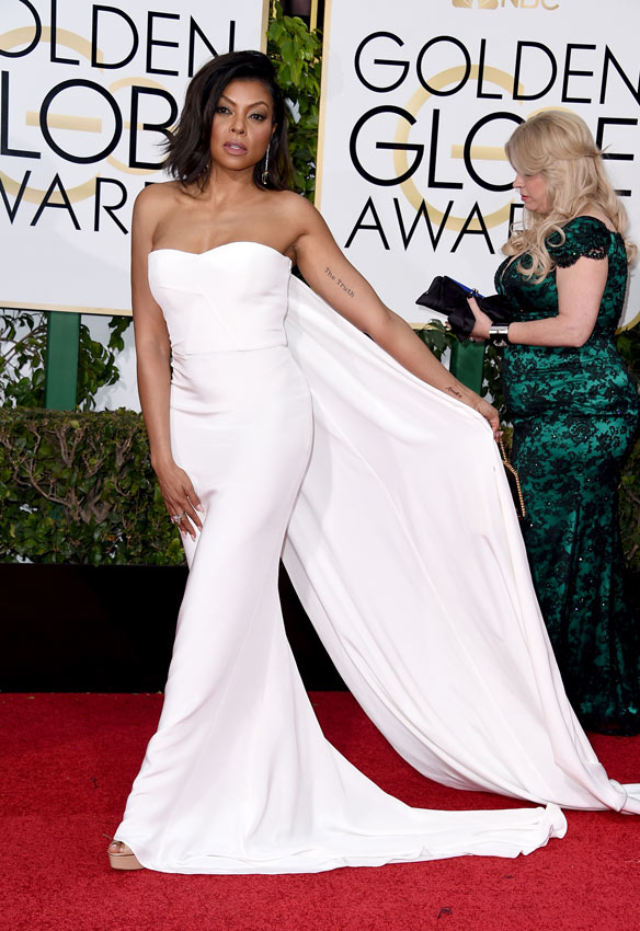 taraji p. henson, invitada boda, wedding dress, blanco, white dress, wedding planner, tips , consejos, estilismo,