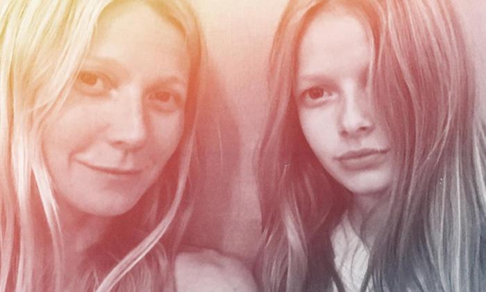 Gwyneth Paltrow presume de su hija Apple y... ¡son iguales!