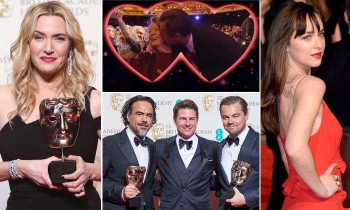 Los besos de la 'kiss cam', la pareja 'Titanic' 18 años después y la más sexy de la alfombra roja... ¿qué pasó en los premios Bafta?