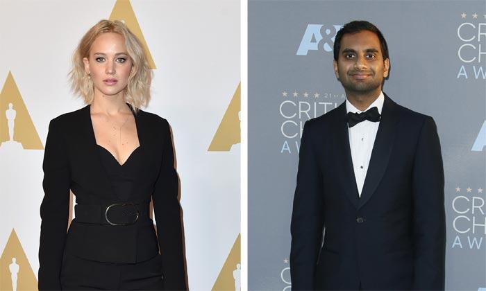 Jennifer Lawrence celebra San Valentín con Aziz Ansari, un amigo... ¿o algo más?