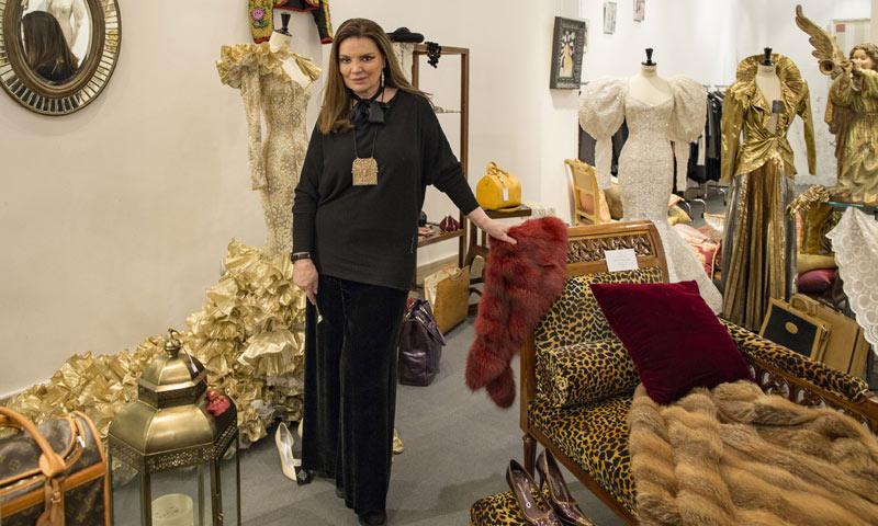 María José Cantudo expone y vende algunos de sus objetos personales