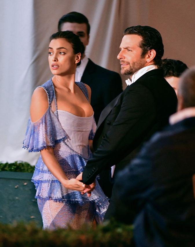Retrato íntimo de Bradley Cooper e Irina Shayk