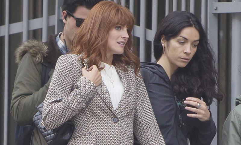 Amaia Salamanca presume de embarazo en el trabajo