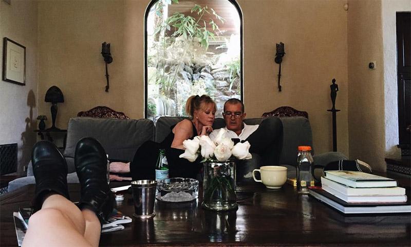 Antonio Banderas y Melanie Griffith, juntos con su hija Stella durante las vacaciones