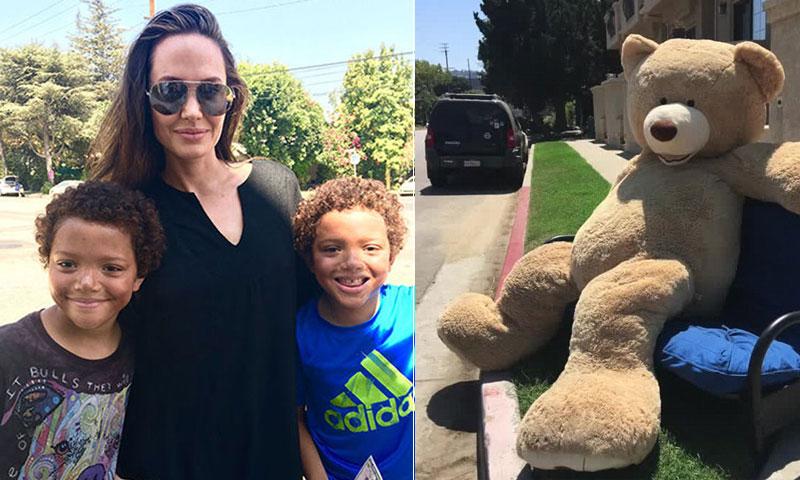 Angelina Jolie y el increíble gesto que hizo feliz a dos gemelos en Los Ángeles