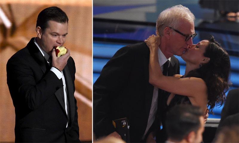Matt Damon y su manzana, sandwiches de mantequilla de cacahuete... ¿los Emmy no eran unos premios?