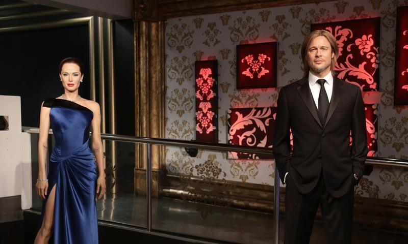 Canciones de desamor y figuras de cera 'enfadadas'... Hollywood también llora la ruptura de Angelina Jolie y Brad Pitt