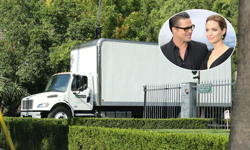 Comienza la mudanza en casa de Angelina Jolie y Brad Pitt