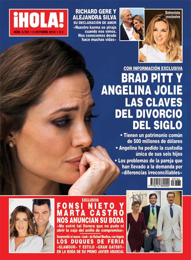 En ¡HOLA!, todas las claves del divorcio de Angelina Jolie y Brad Pitt y mucho más...
