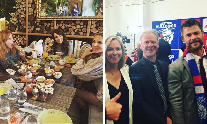 Mientras Elsa Pataky se reencuentra con amigos en Madrid... ¿qué hace Chris Hemsworth en Australia?
