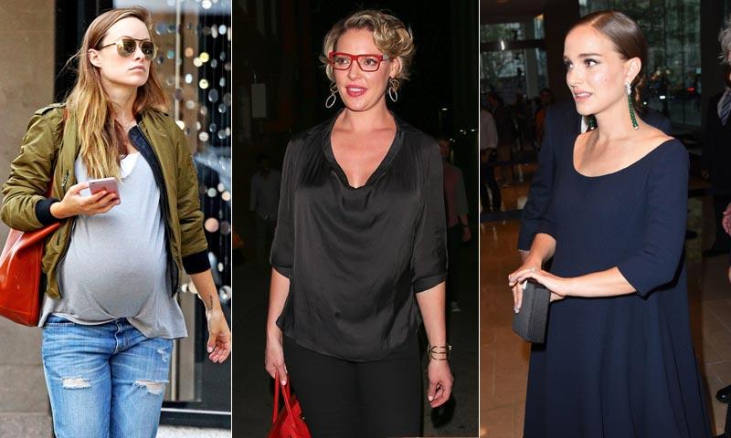 ¡La cigüeña sobrevuela Hollywood! Mila Kunis, Olivia Wilde, Natalie Portman y Katherie Heigl presumen de embarazo