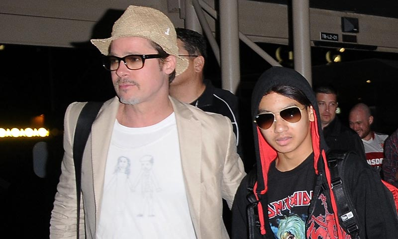 Primer encuentro de Brad Pitt con su hijo Maddox desde su incidente en el avión