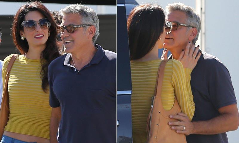 Cuando las cámaras se apagan, George y Amal Clooney ruedan su propia película