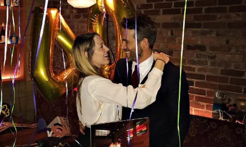 Ryan Reynolds, sorprendido de un modo muy romántico por Blake Lively en su 40 cumpleaños