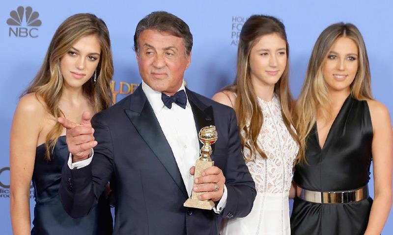 Las bellas hijas de Stallone, elegidas Miss Globo de Oro