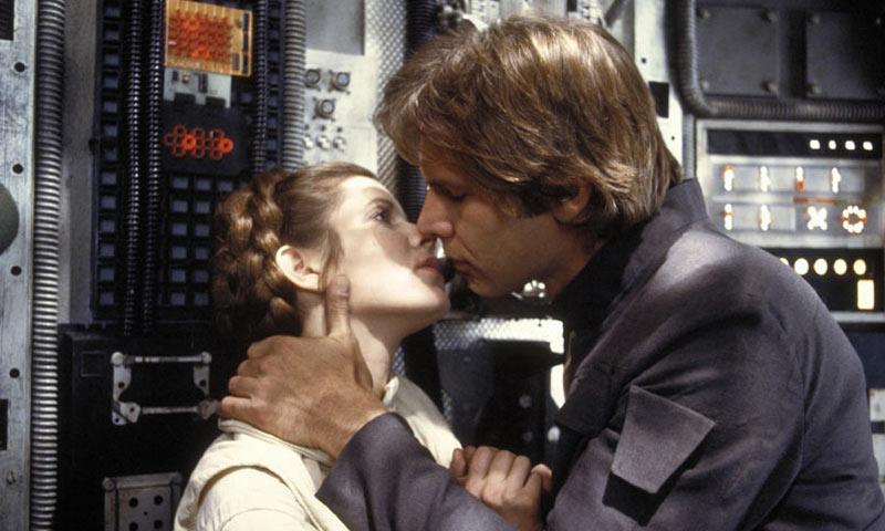 Carrie Fisher confirma que mantuvo un romance con Harrison Ford mientras rodaban 'La Guerra de las Galaxias'