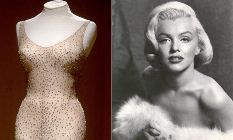 Subastan el vestido con el que Marilyn Monroe cantó el cumpleaños a JFK