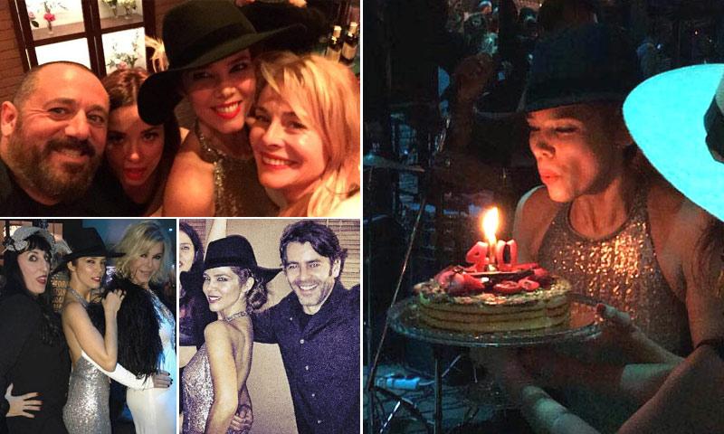 La fiesta en 'blanco y negro' de Juana Acosta por su 40 cumpleaños