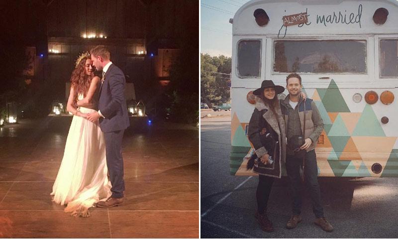 La boda del 'novio' de Meghan Markle en la ficción, Patrick J. Adams, con Troian Bellisario, de 'Pequeñas Mentirosas'