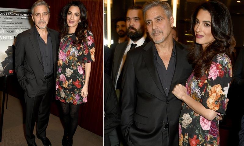 George Clooney, inseparable de Amal y defensor de Meryl Streep tras las críticas de Donald Trump