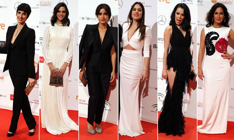 Looks 'Black&White' en la alfombra roja de los Premios Forqué