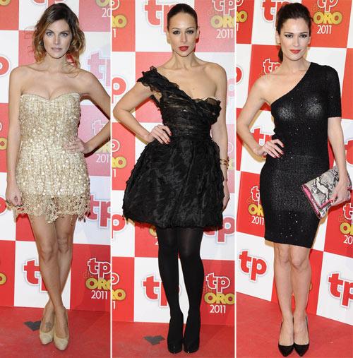 Amaia Salamanca, Nuria Roca, Paula Vázquez, Mar Saura, Raquel Sánchez Silva... compiten en belleza y elegancia en los Tp de Oro