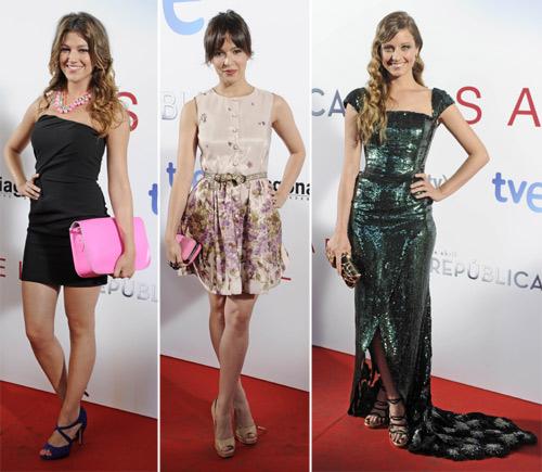Michelle Jenner, Verónica Sánchez y Úrsula Corberó, trío de bellezas de estreno en Madrid