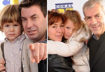 Arturo Valls, Carlos Sobera e Irma Soriano, rememoran su infancia acompañados por sus hijos
