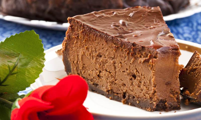 Un postre para 'derretirse': Tarta de queso con chocolate
