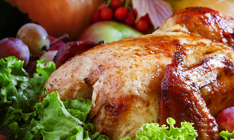 Exotismo y tradición: pollo al horno con uvas