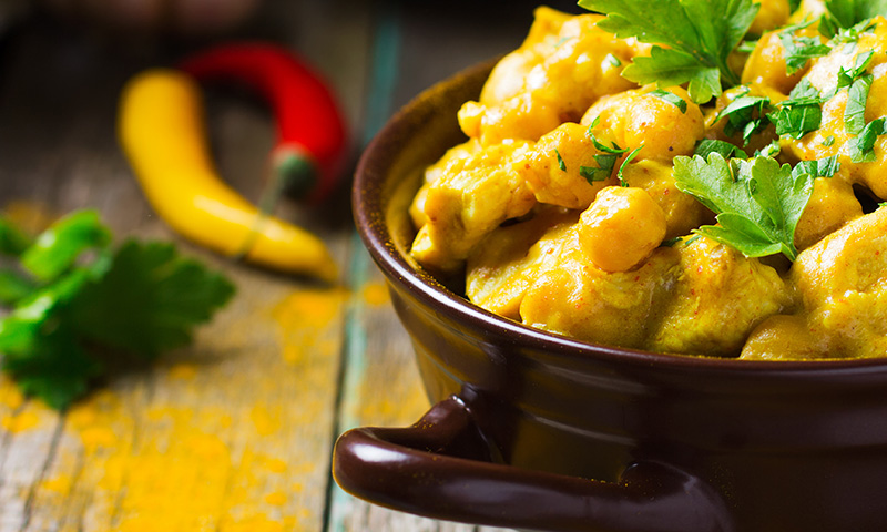 Receta en 10 minutos: pollo al curry