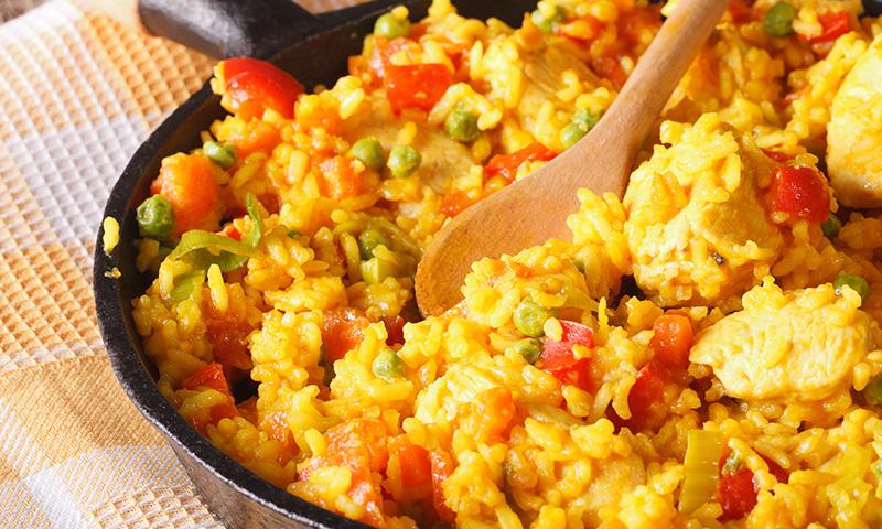Acércate a la cocina latina: arroz con pollo a la cubana
