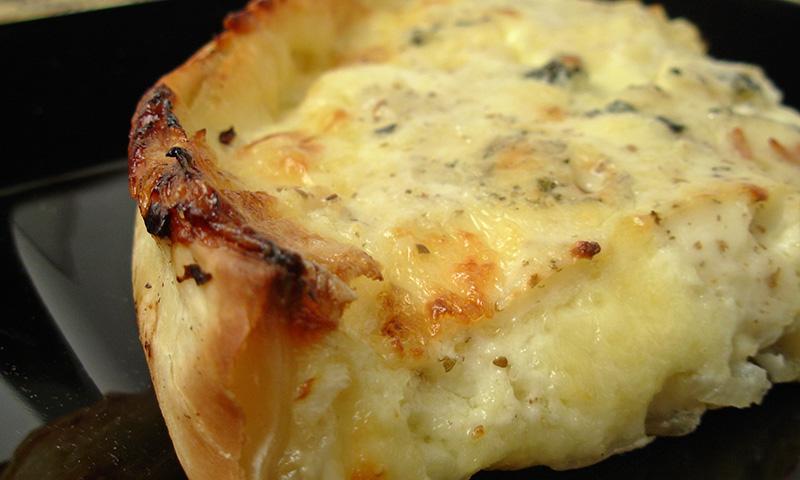 Tarta de queso al horno de roquefort, ¡vive la France!