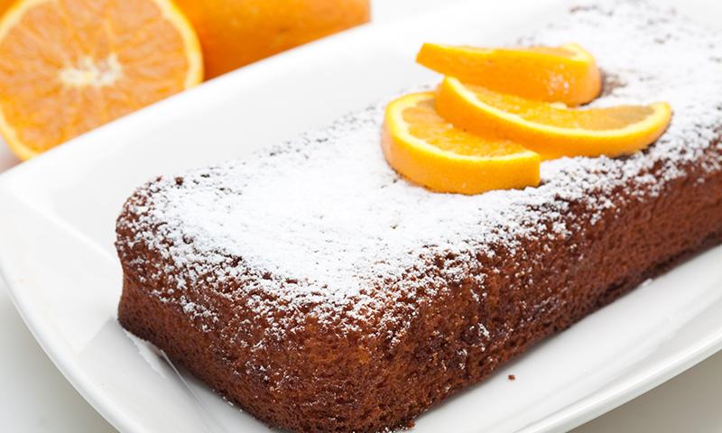 Bizcocho con zumo de naranja, dosis extra de vitamina C