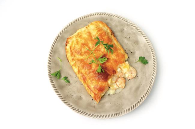 Empanada de langostinos y mango