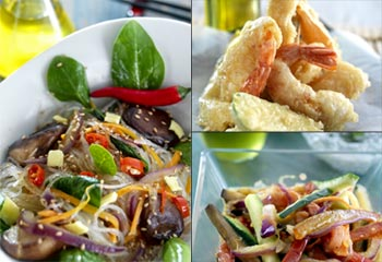 Cocina oriental con un toque mediterráneo