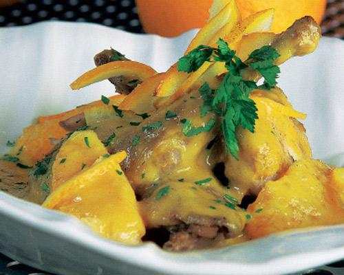 De temporada: codornices con salsa de naranja