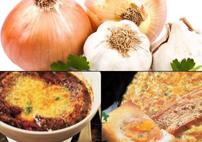 Platos de cuchara: sopa de ajo vs. sopa de cebolla