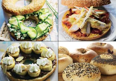 Cocina internacional: 'bagels', sabrosas propuestas entre pan y pan