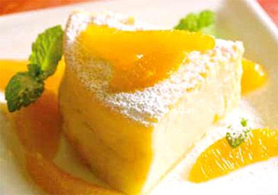 Hoy, de postre… tarta casera de queso y naranja