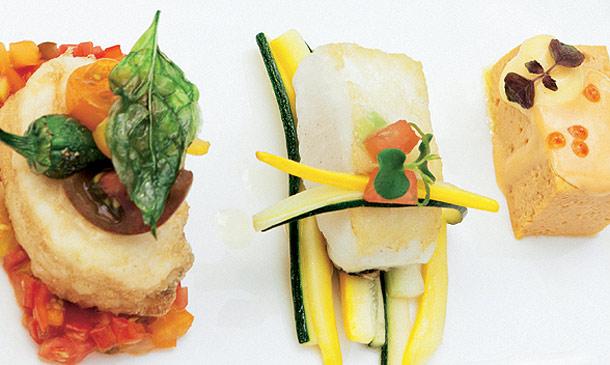 'Cocina en miniatura': Ocho canapés, un ingrediente común