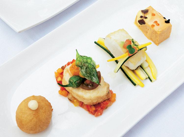 Cocina en miniatura ocho canap s un ingrediente com n - Escuela de cocina paco amor ...