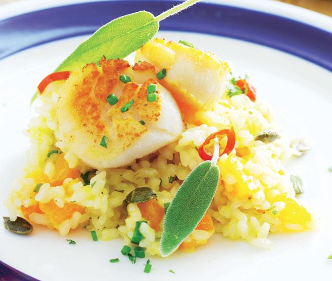 Con acento italiano: ¡delicioso 'risotto'!